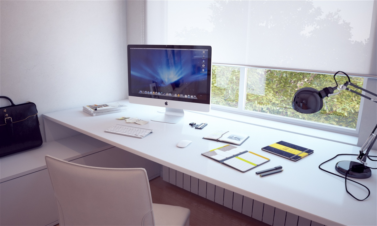 White-Built-In-Bespoke-Desk