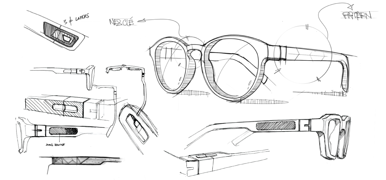 Dessin De Lunettes unistudio - we ddd : votre paire de lunettes imprimée en 3d.